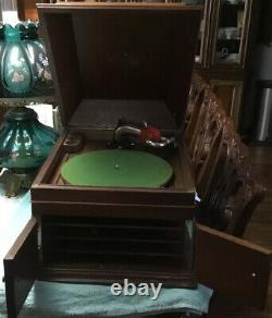Antique Victrola Vinyl Record Player Victor Phonograph
