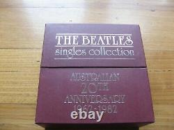 BEATLES SINGLES COLLECTION Orig 1982 Australian RED BOX + BOOKLET, No Records