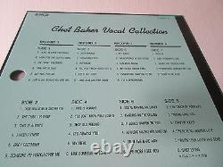 Chet Baker Vocal Collection Japan Four Vinyl LP Box with OBI in 1987 Jazz