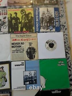 Collection Of Punk, New Wave 7 Singles. Joblot