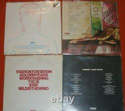 DAVID BOWIE Vinyl Lot SPACE SOLD DORY ZIGGY SANE DOGS STATION HEROES LOW LODGER