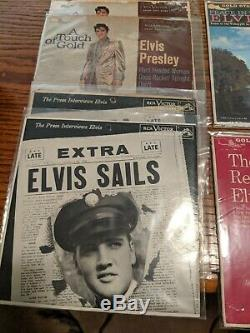 Elvis Presley Vinyl Records huge collection over 500 records (LPs, EPs & 45's)