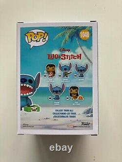 FUNKO POP DISNEY STITCH with RECORD PLAYER #1048 CHASE VERSION READY TO SHIP