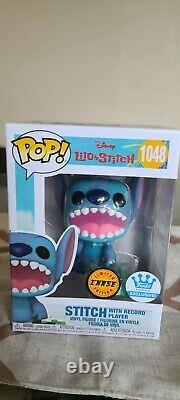FUNKO POP! Funko Shop Excl DISNEY STITCH with RECORD PLAYER #1048 CHASE