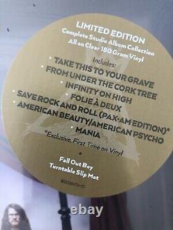 Fall Out Boy The Complete Studio Album Collection Box Set CLEAR VINYL LIMITED