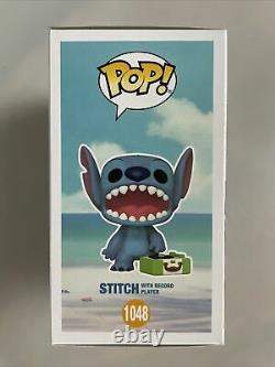 Funko Pop Exclusive Stitch with Record Player Limited Edition Chase. Disney #1048