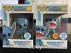 Funko Pop-LILO & Stitch-Stitch WithRecord Player #1048 COMMON&CHASE-HT ExcStitch