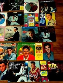 Huge lot of 34 Elvis records. Instant collection