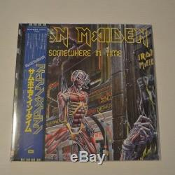 IRON MAIDEN PICTURE DISC COLLECTION 1980-88 2012 JAPAN 8-LPs + PROMO BOX