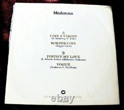 Madonna Immaculate Collection Brazil Sampler Promo Justify My Love Lp Vinyl Sex