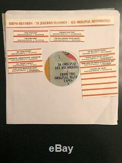 Rare 78 RPM Record Collection Jukebox Classics by Rhino Records High Fidelity