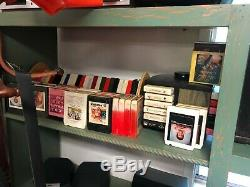 Record collection 80+ 45s, 8oo LPs, cds and 8 tracks phonograph player included