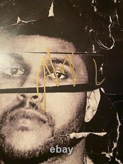 THE WEEKND SIGNED BEAUTY BEHIND THE MADNESS 2x LP VINYL RECORD