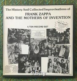 The History And Collected Improvisations Of Frank Zappa Private 10 Lp Box Set NM